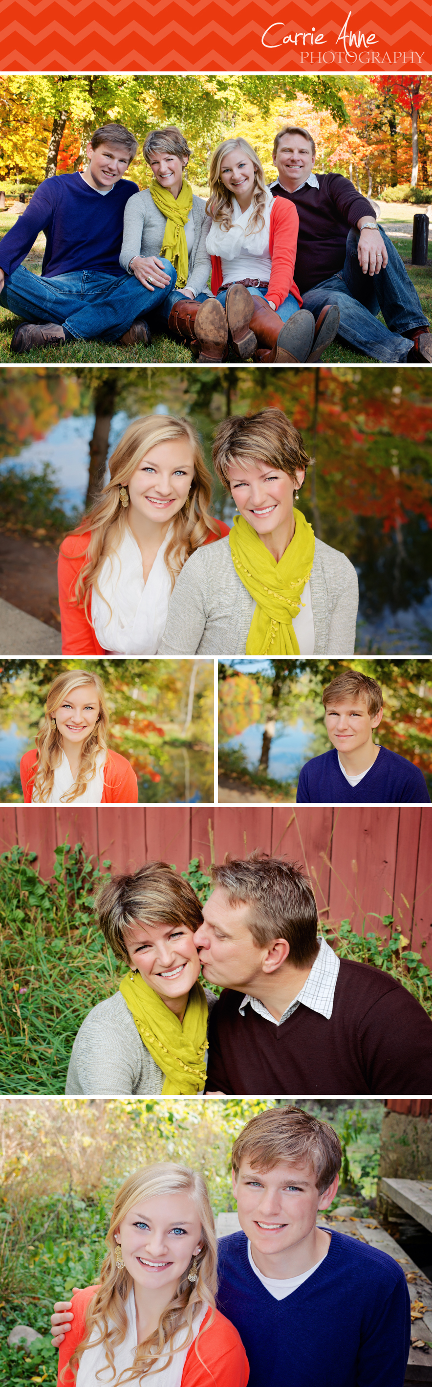 Fabulous fall colors at Fallasburg Park West Michigan Family Photographer Carrie Anne Photography