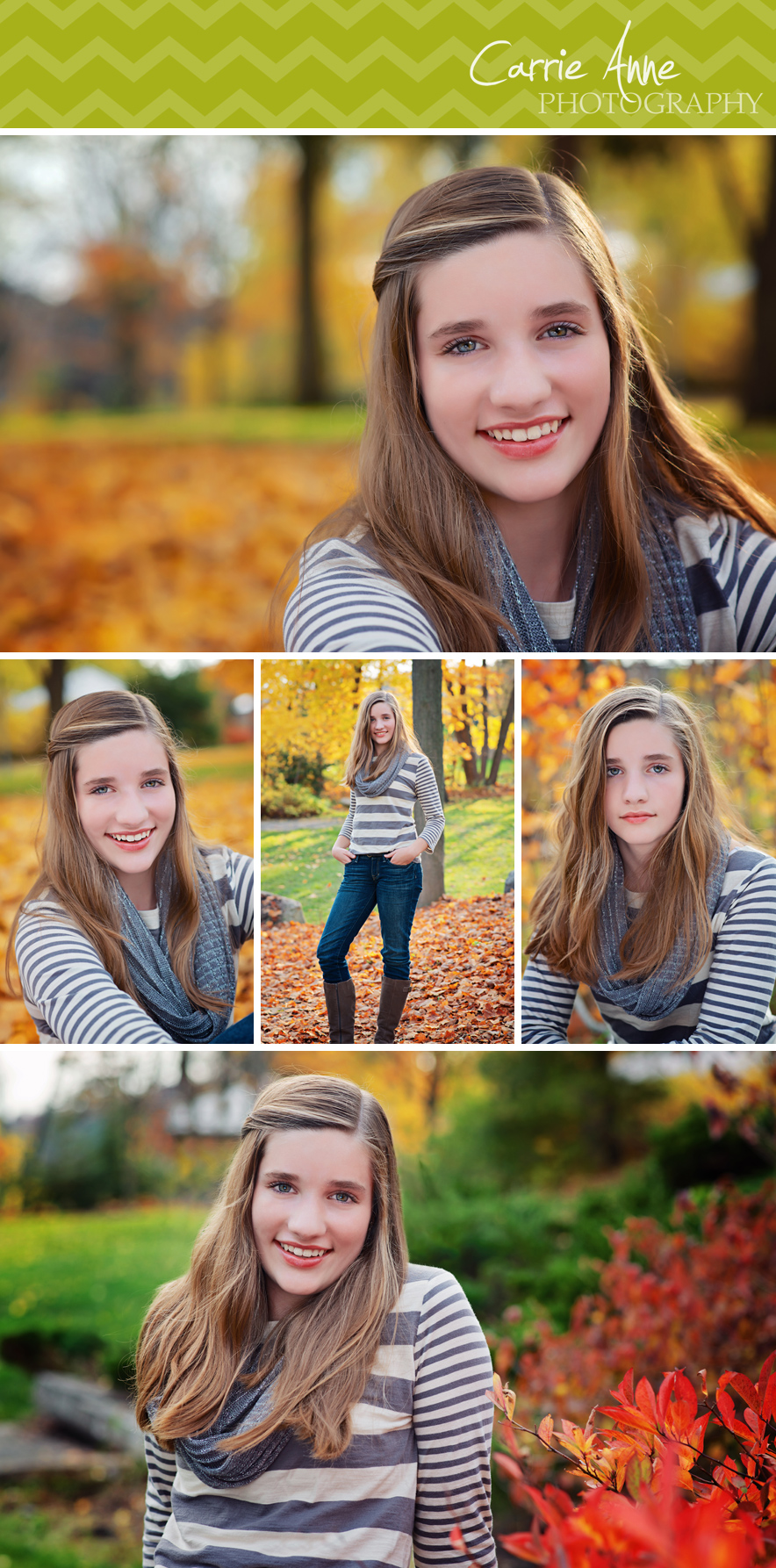 Fall Colors Teen Photo Session Beautiful Park Session by Carrie Anne Photography