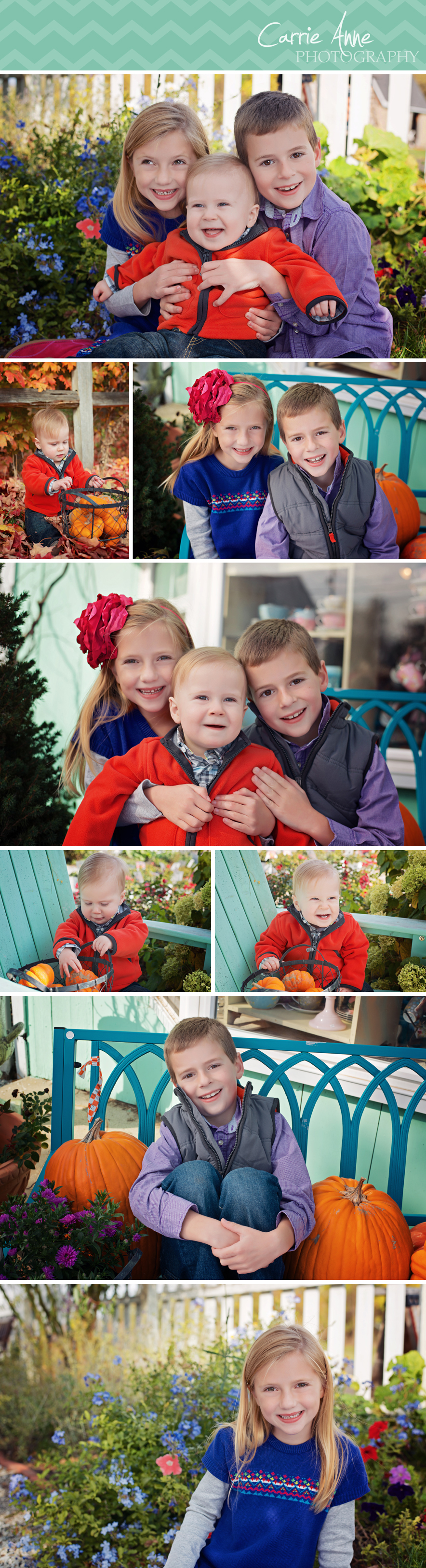 Colorful Family and Children Photography by Carrie Anne Photography