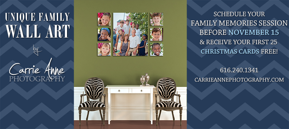 Wall Display Ideas | Carrie Anne Photography | Grand Rapids