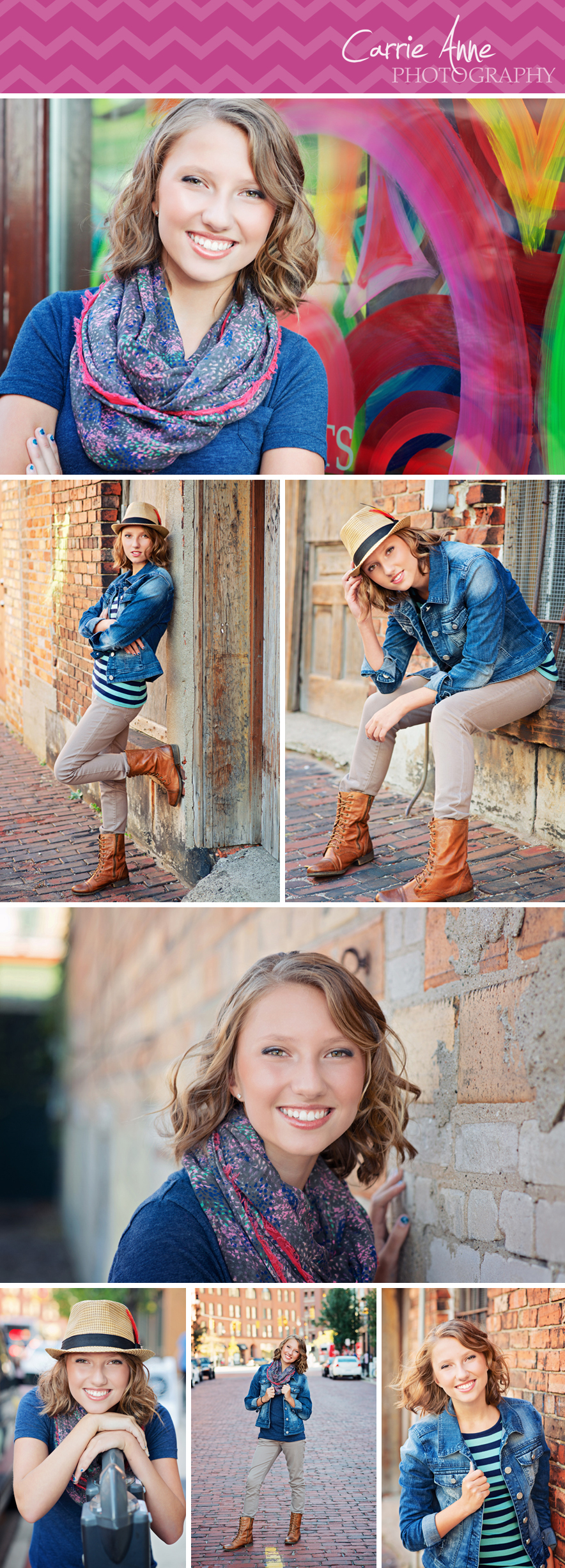 Colorful, funky downtown Grand Rapids Photographer Ultimate Senior Girl Session in Ada, Grand Rapids, Cascade, Michigan. Natural, funky, bright, cheery, colorful, photography.