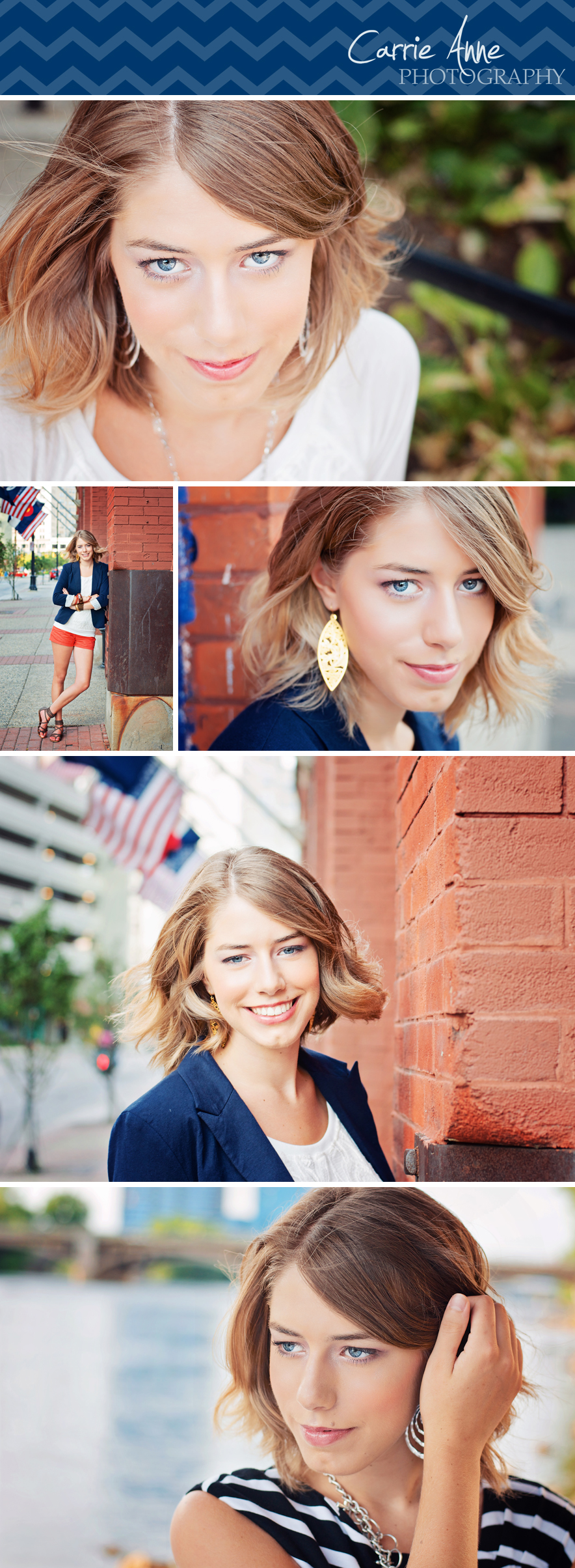 Funky, Urban Senior Girl Photography Downtown Grand Rapids, Michigan