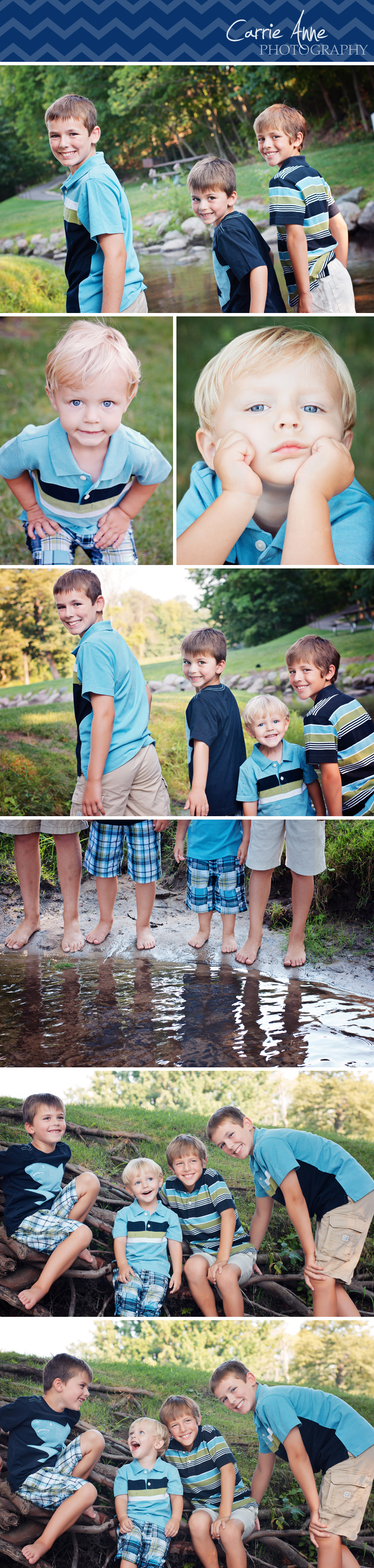 Fun Family of boys children photography in Grand Rapids, West Michigan