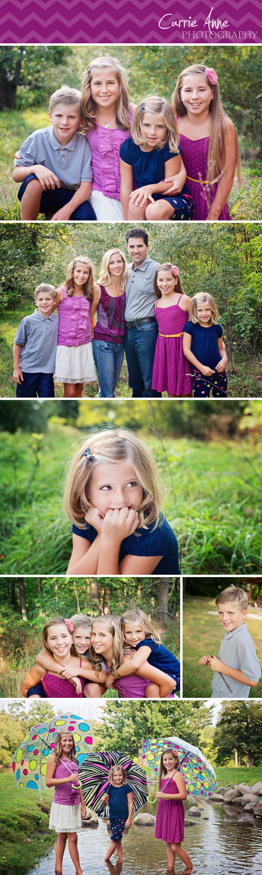 Colorful Family Photography at Fallasburg Park Grand Rapids Family and Child Photographer Carrie Anne Photography